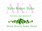 Alpha Kappa Alpha Sorority, Inc. Ivy