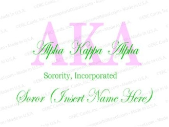 Alpha Kappa Alpha Sorority, on AKA